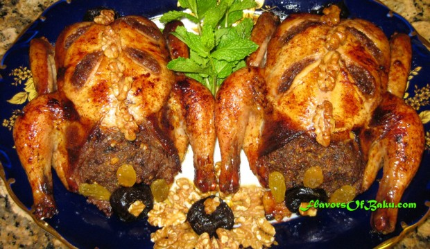 Toyuq Levengi (Stuffed Chicken)