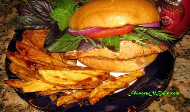 Baku-style Salmon Burger